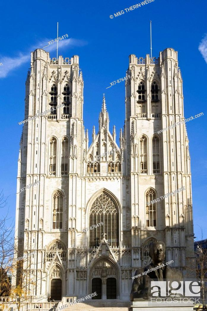 Photo de stock: St  Michael and St  Gudula Cathedral, Brussels, Brabant, Belgium.