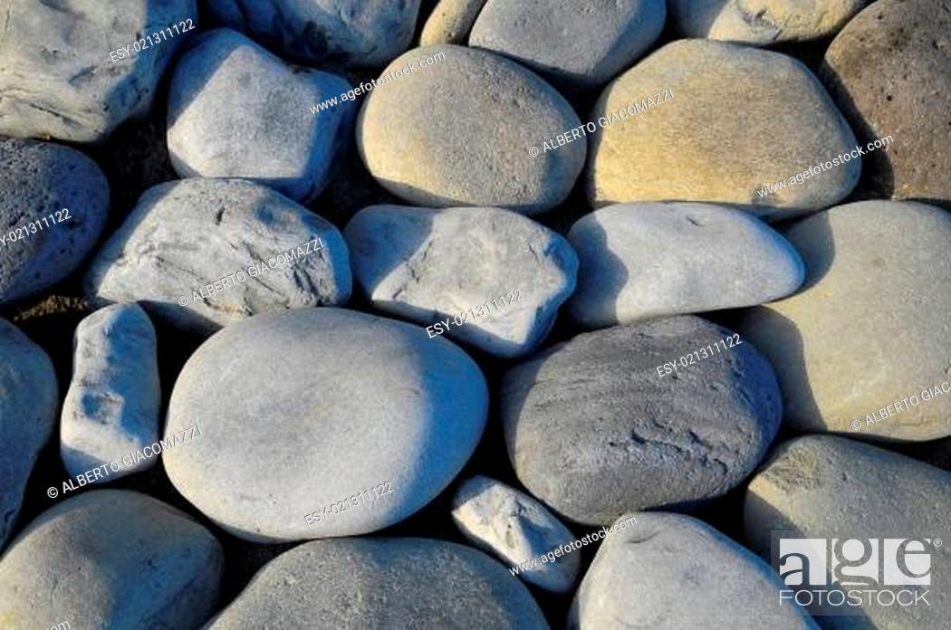 Stock Photo: Round Rocks Smoothed by the Water.