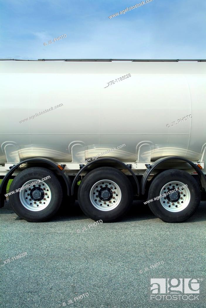 Stock Photo: Truck Fuel Tanks.