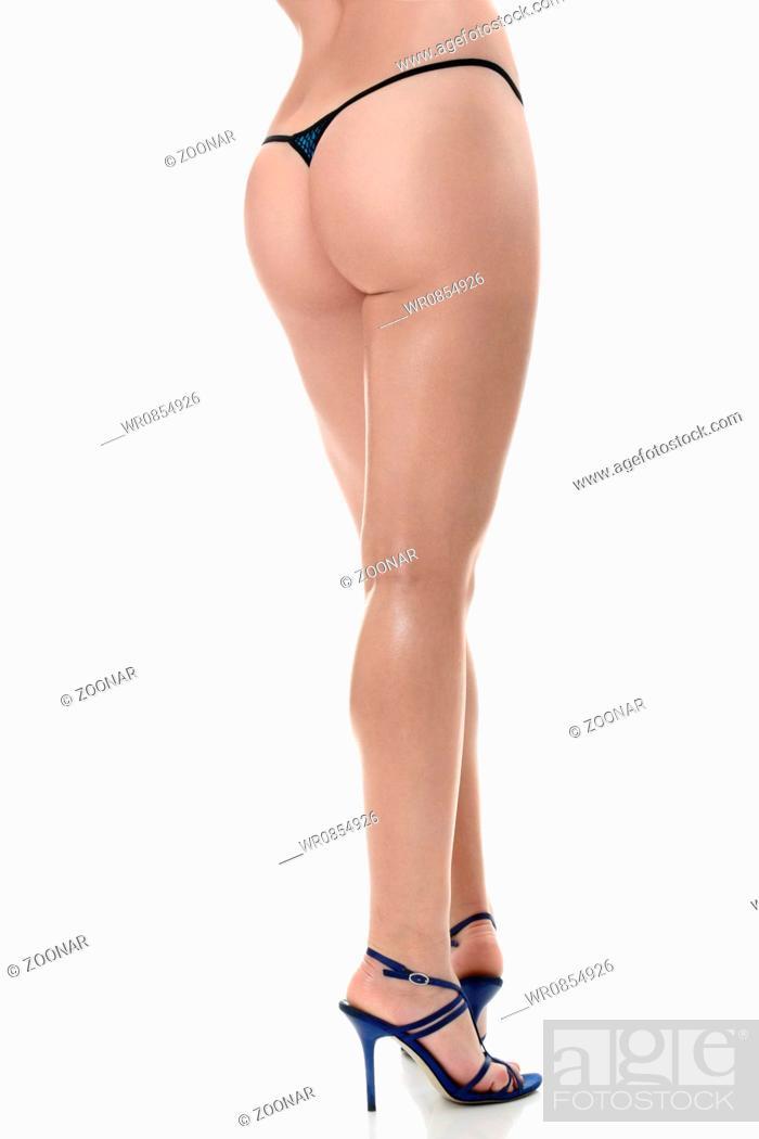Stock Photo: Beautiful sexy female long legs.