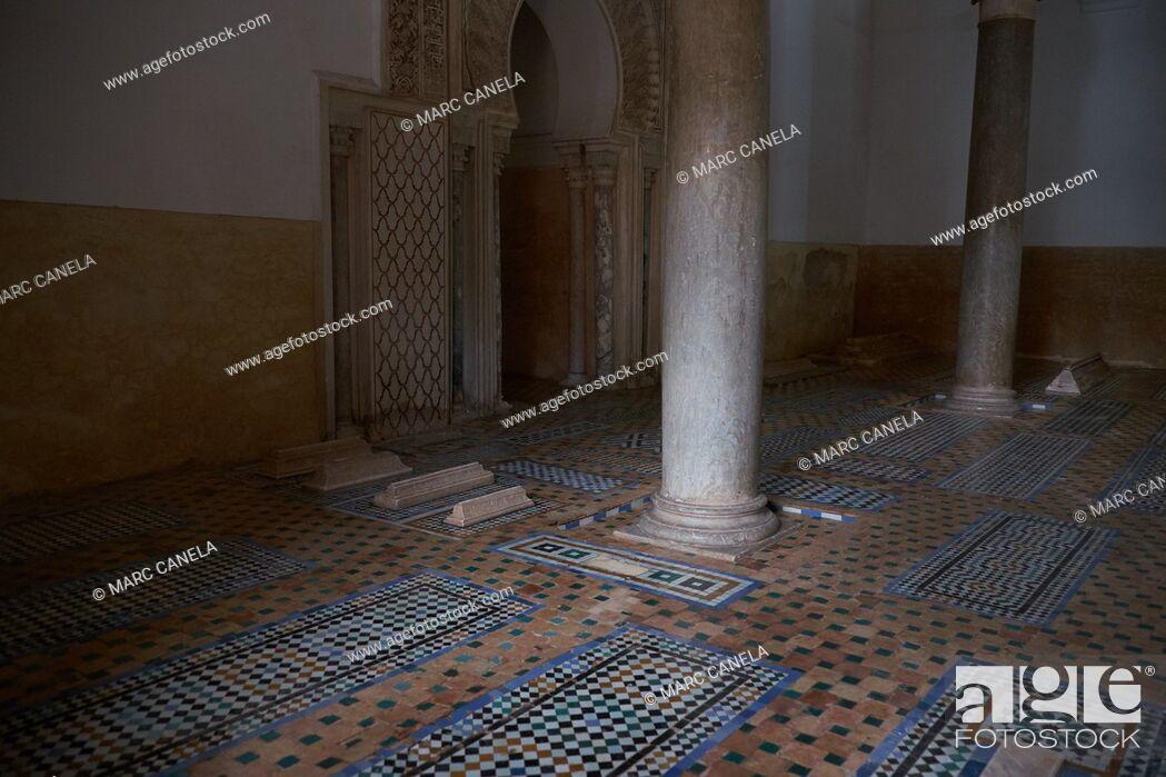 Stock Photo: Africa, Morocco, marrakech Saadian tombs.