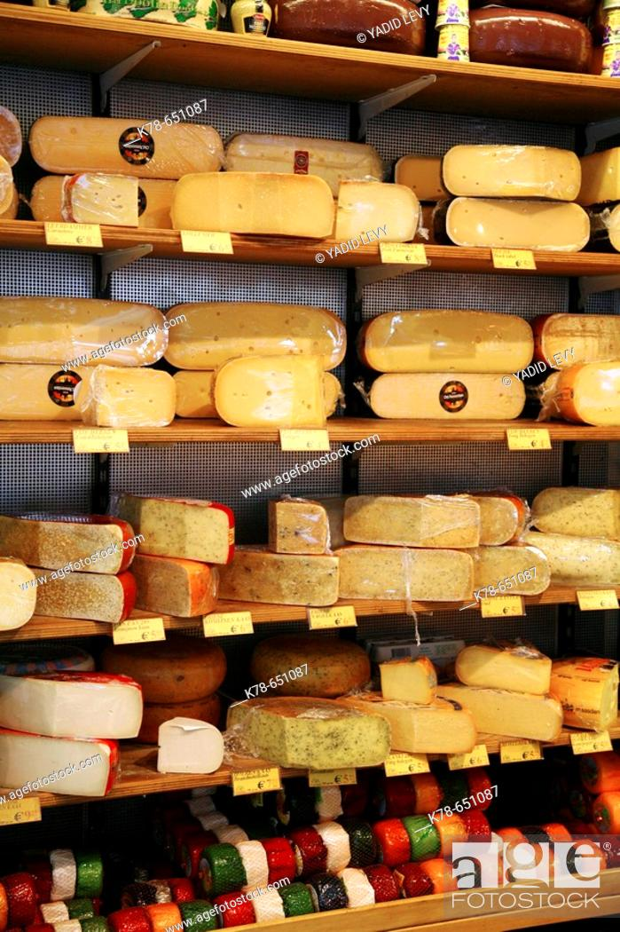 Stock Photo: Cheese shop, Amsterdam, Holland.