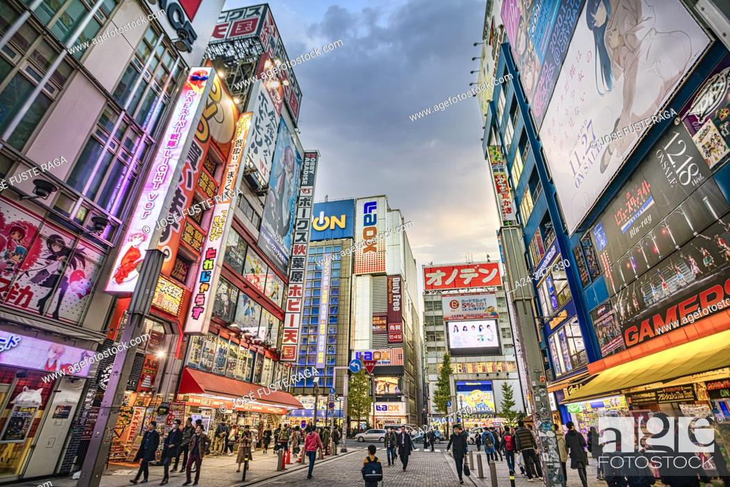 Stock Photo: Japan , Tokyo City, Akihabara District, Electric town, .