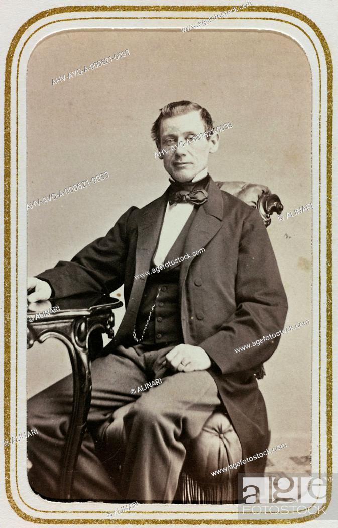 Imagen: Portrait of the Swedish politician Carl Bohmansson (1814-1900), carte de visite, shot 1860-1870.