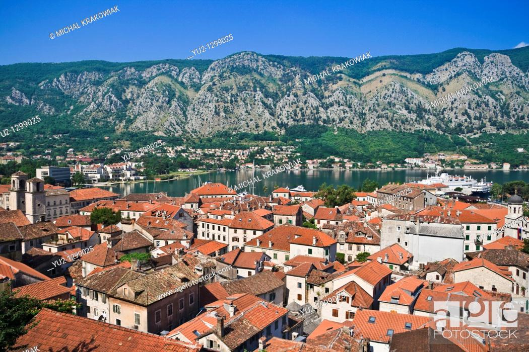 Stock Photo: View on Kotor in Montenegro.