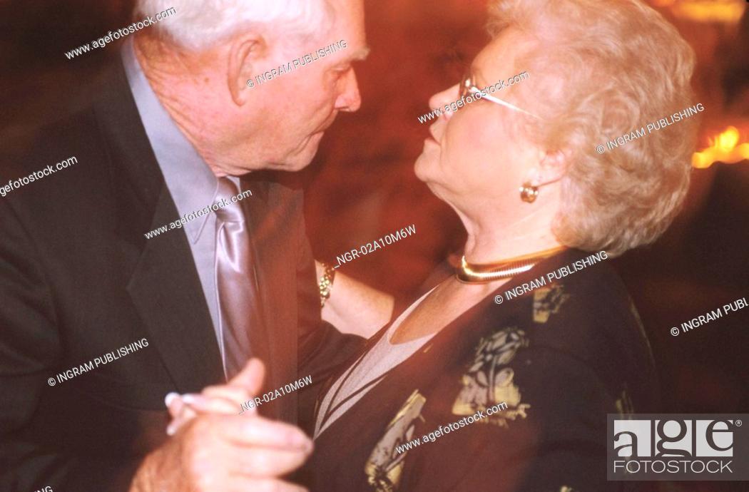 Stock Photo: Grandparents Dancing.