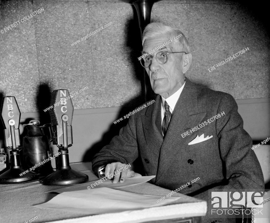 Francis Townsend At NBC Microphones Ca 1939 The Old Age Pension