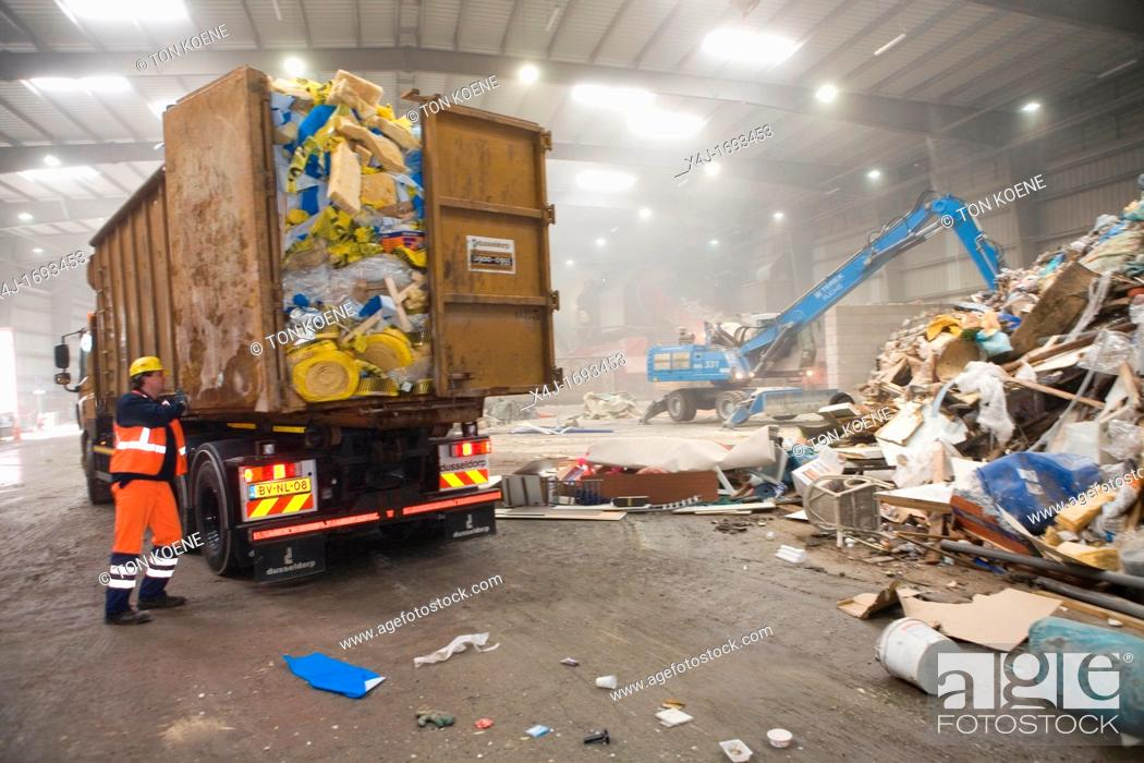 Stock Photo: The combustor 'Twence' in The Netherlands is able to process 550,000 tonnes of waste and 150,000 tonnes of biomass annually The majority of waste is being.