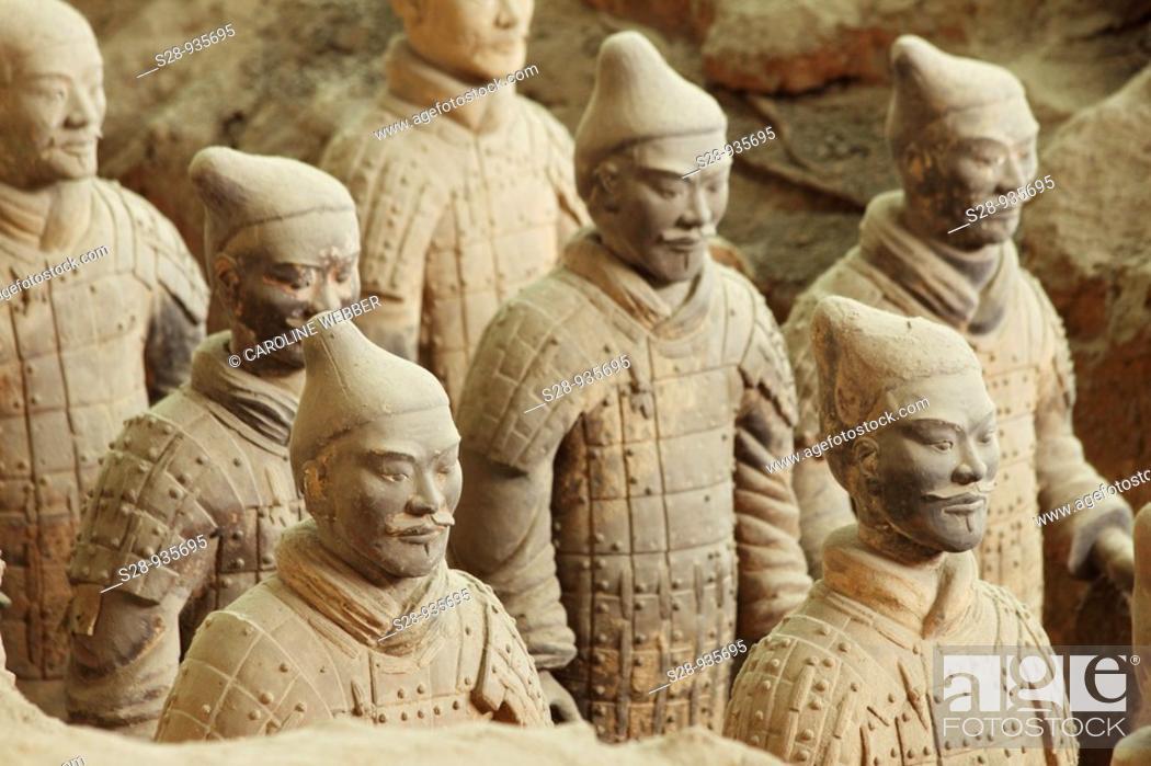 Stock Photo: Terra Cotta Army in Xi'an.