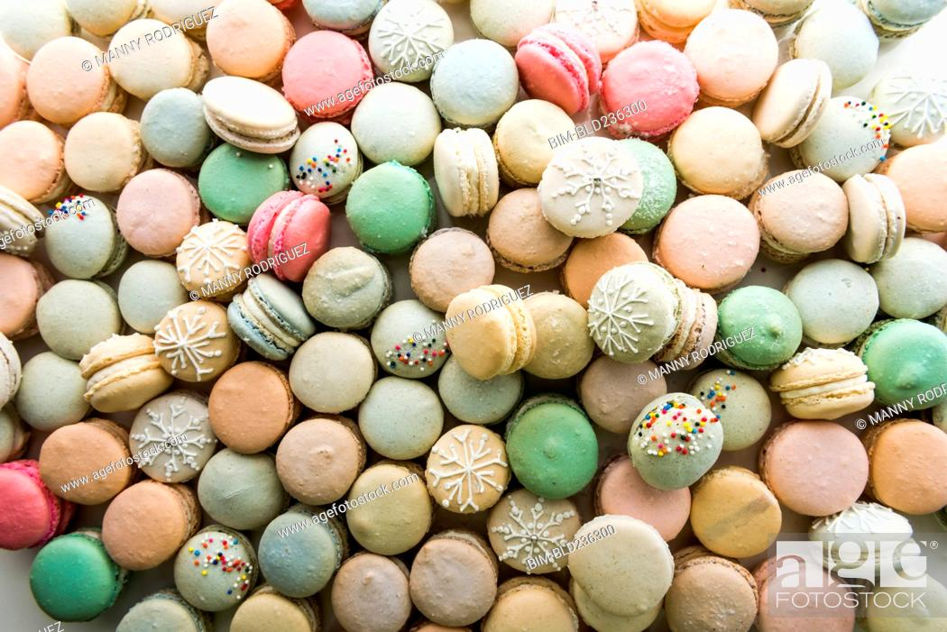 Stock Photo: Pile of macaroons.