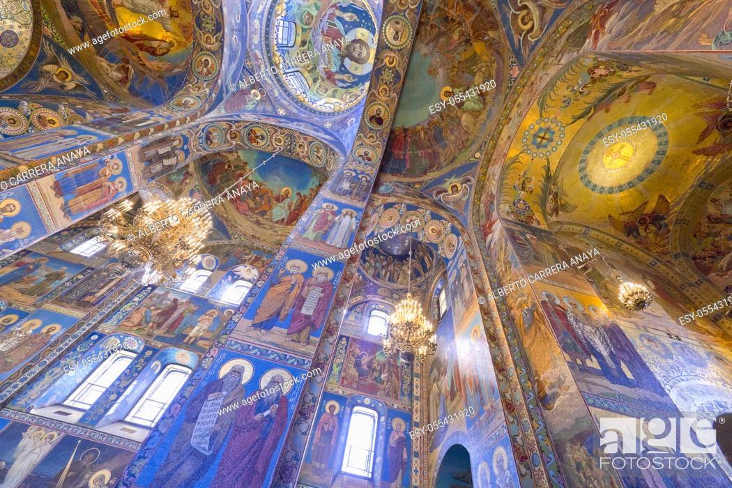 Imagen: Churh of the Savior on Spilled Blood, Saint Petersburg, UNESCO World Heritage, Russia.