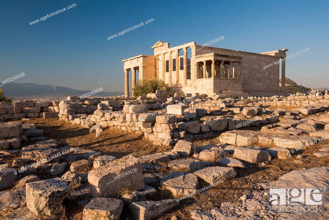 Stock Photo: Acropolis, UNESCO World Heritage Site, Athens, Attica Region, Greece, Europe.