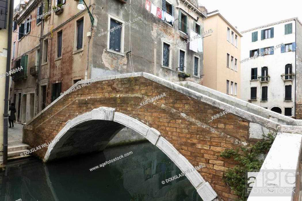 Stock Photo: A canal in Venice, Italy.