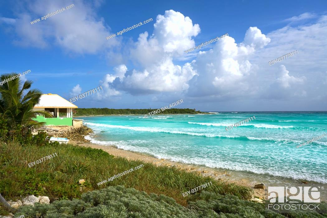 Stock Photo: Cozumel island San Martin beach in Riviera Maya of Mayan Mexico.
