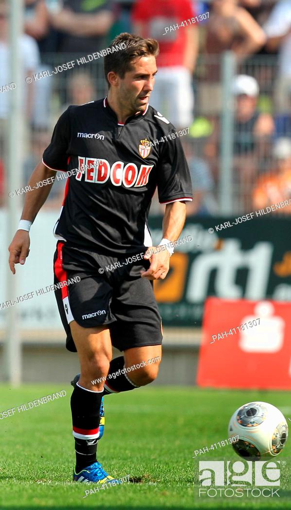 Stock Photo: Monaco's player Joao Mountinho in action during the soccer test match between FC Augsburg and AS Monaco in Memmingen, Germany, 20 July 2013.