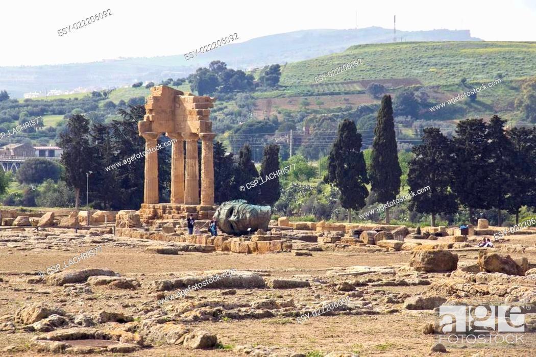 Stock Photo: Valle dei Templi, Agrigento, Sicily.