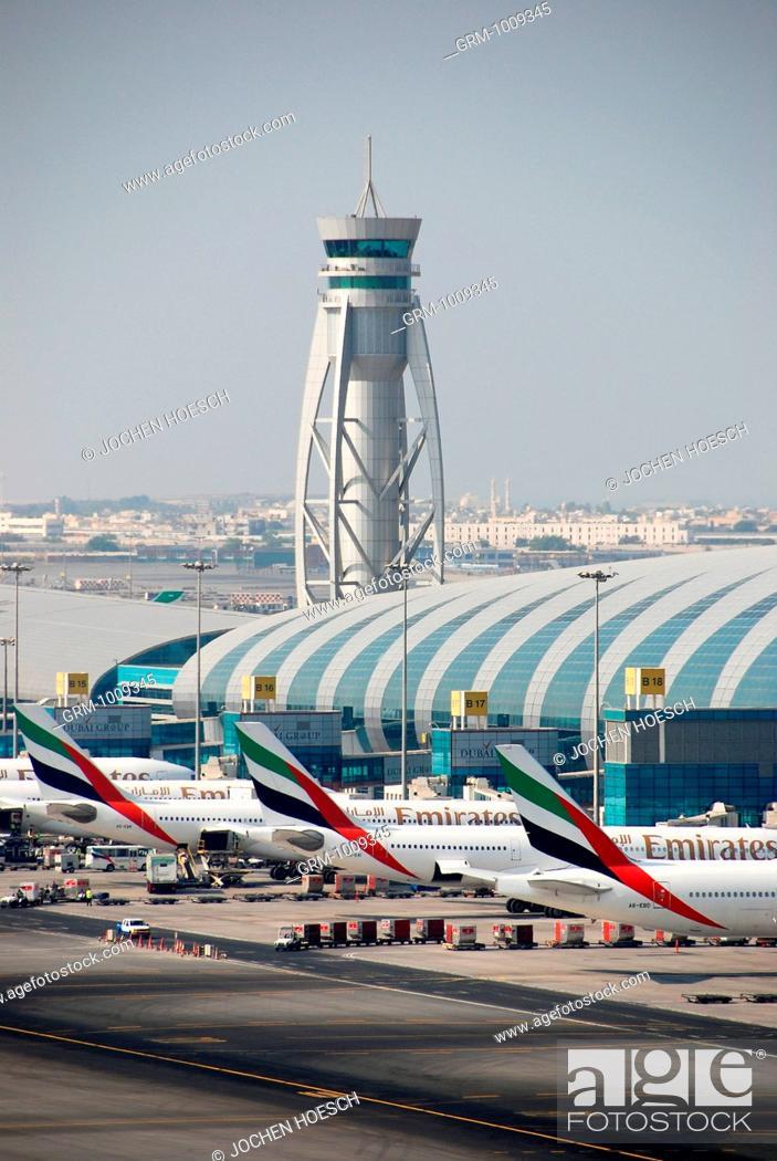 Stock Photo: Terminal 3 of Dubai International Airport, Dubai, UAE.