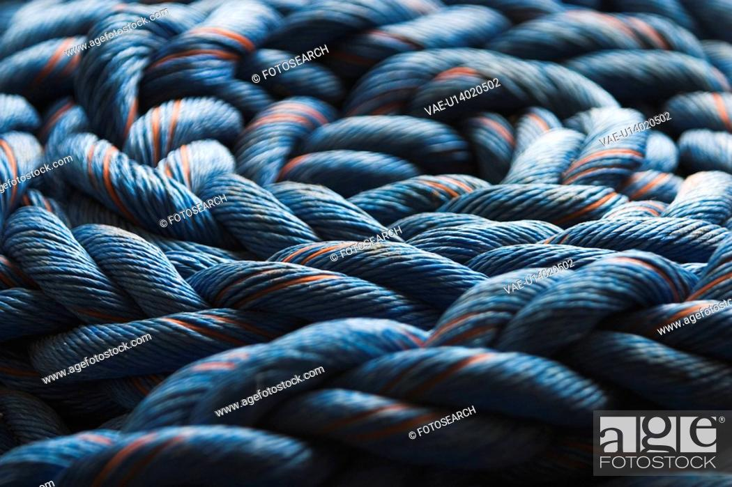 Stock Photo: Industrial, Pattern, Pile, Ropes.