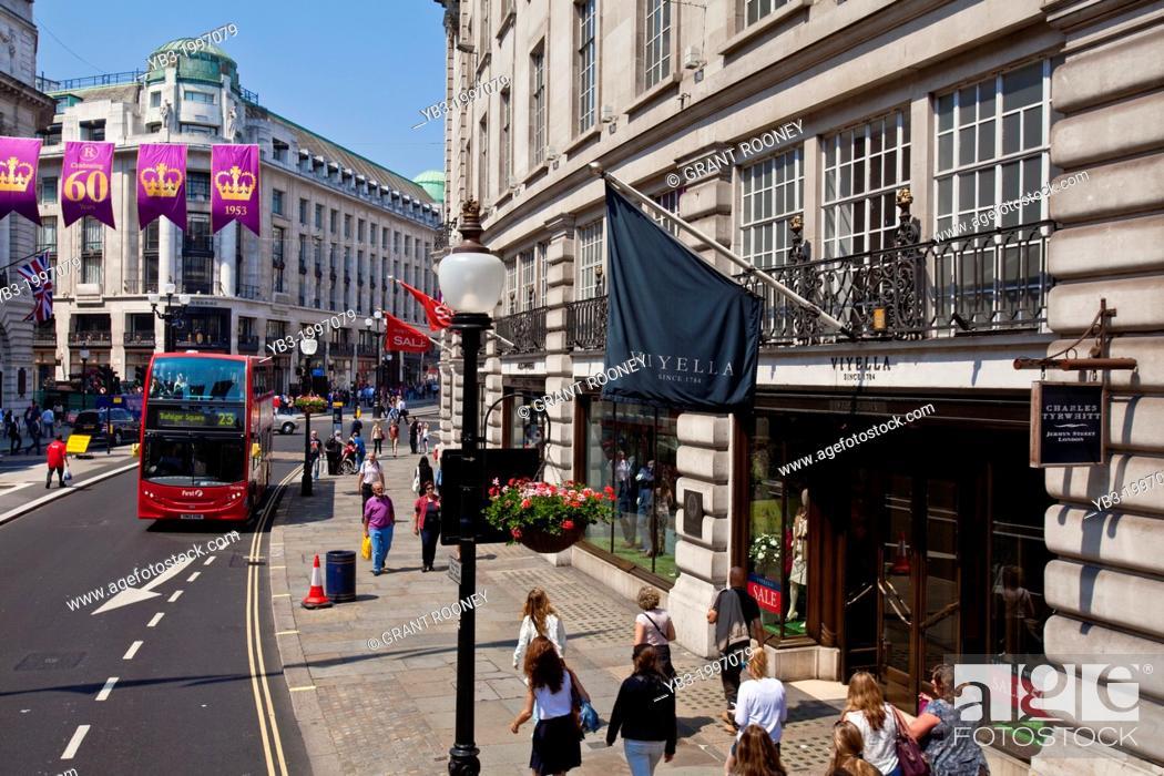 Stock Photo: Shops, Regent Street, London, England.