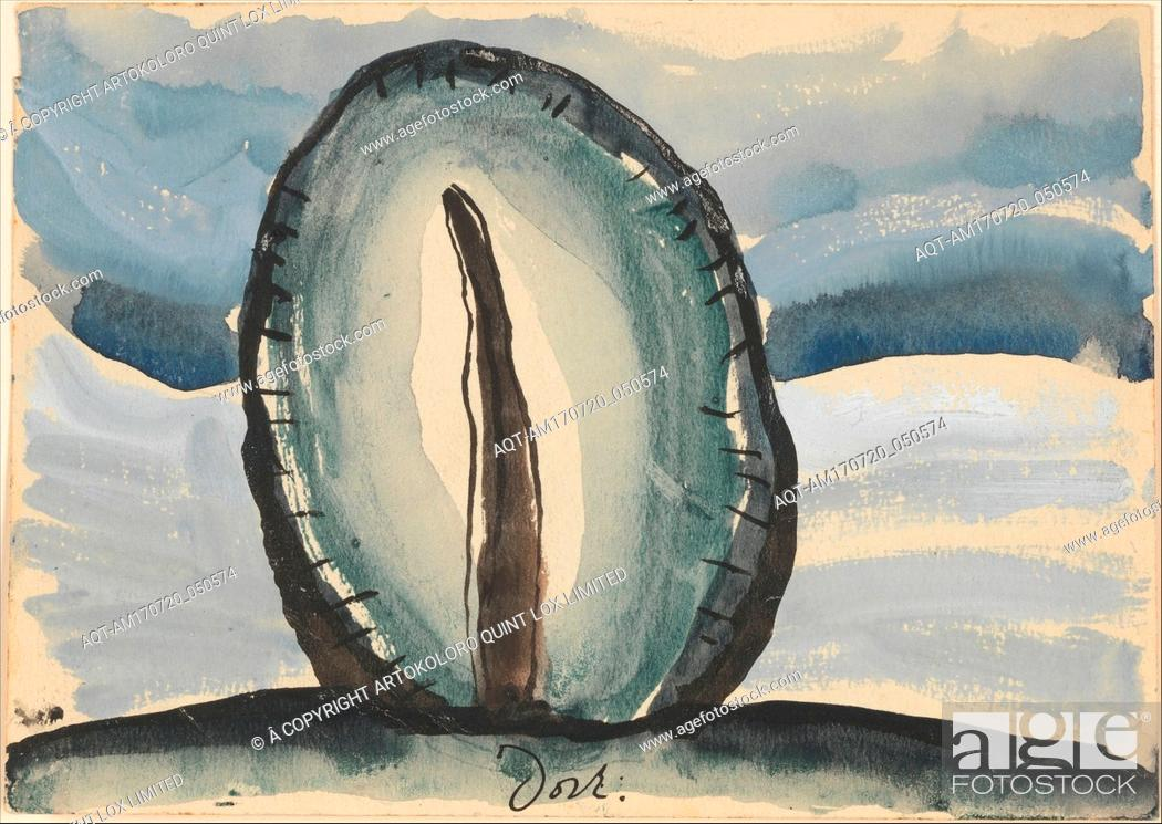 Stock Photo: Tree, 1935, Watercolor, tempera, and ink on paper, 5 x 7 in. (12.7 x 17.8 cm), Drawings, Arthur Dove (American, Canandaigua, New York 1880–1946 Huntington.
