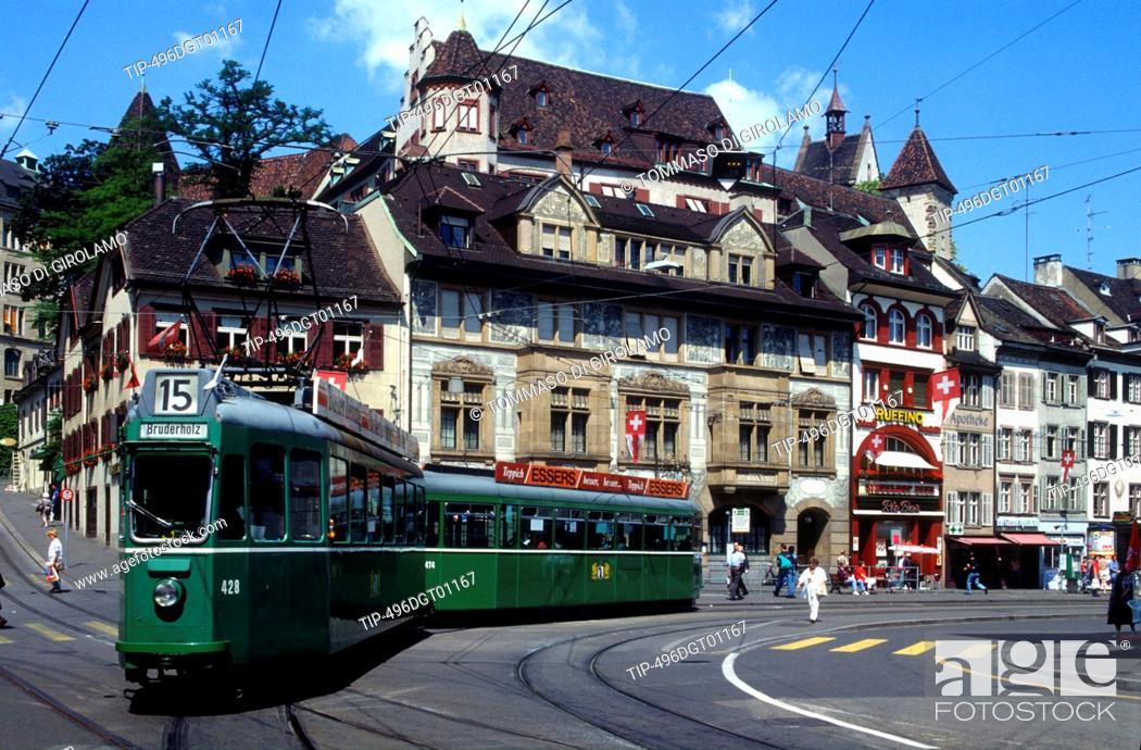 Stock Photo: Switzerland, Basel,Spalentor door.