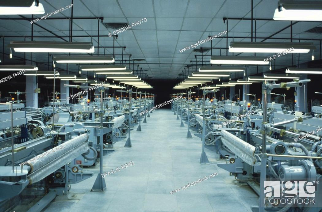 textile industry , india, Stock Photo, Picture And Rights