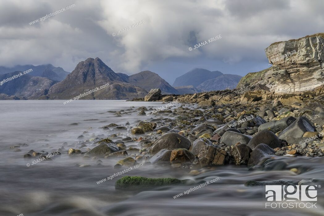 Stock Photo: Elgol, Cuillin Mountains, Isle of Skye, Scotland, United Kingdom.