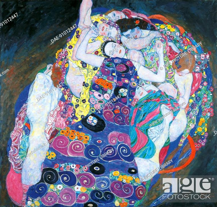 Stock Photo: The virgin, 1913, by Gustav Klimt (1862-1918), oil on canvas, 190x200 cm.  Prague, Národní Galeri V Praze (National Fine Arts Museum).