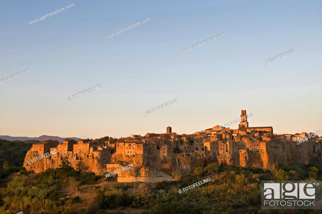 Stock Photo: Italy, Tuscany, Pitigliano.