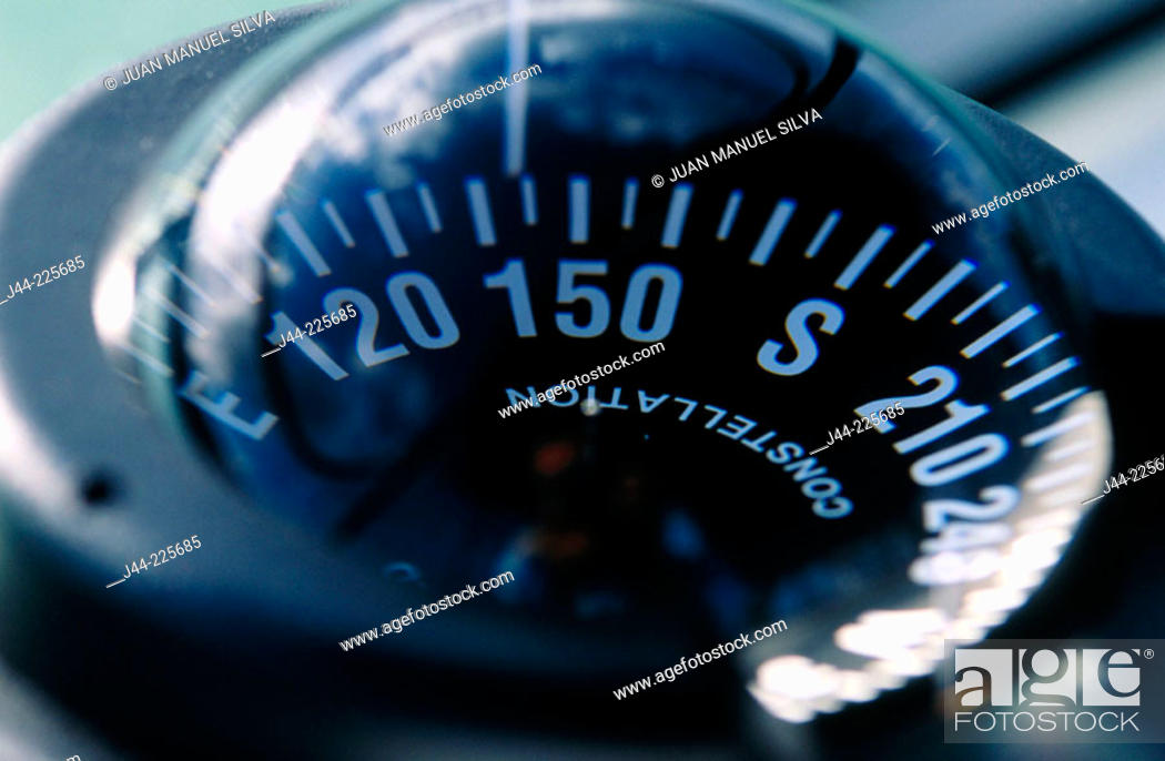 Stock Photo: Boat compass.