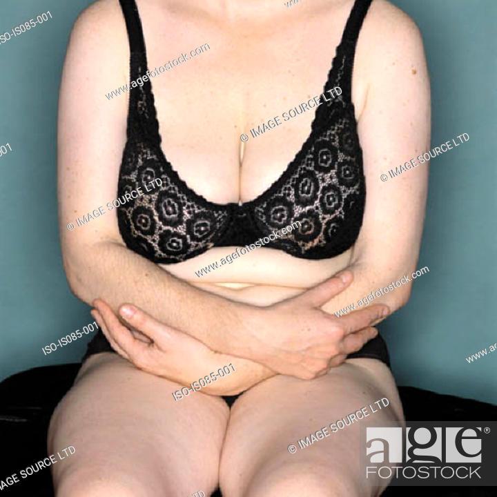 Stock Photo: Female in underwear.