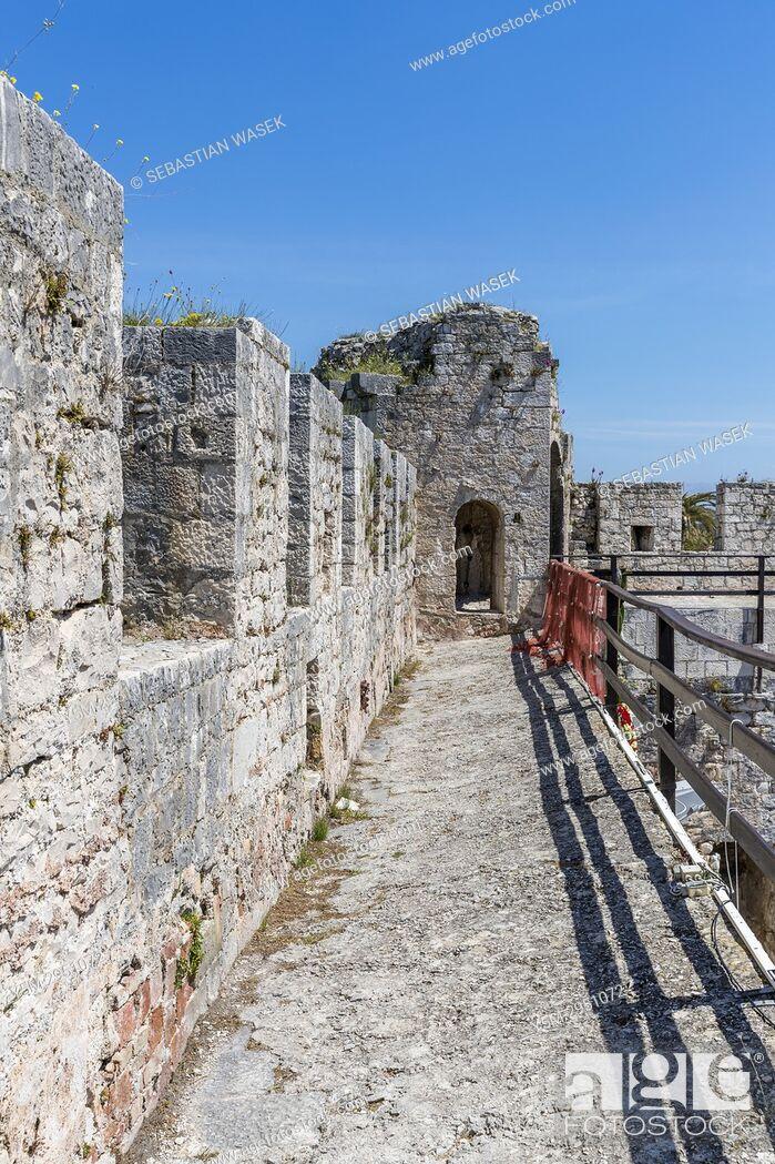 Stock Photo: Kamerlengo Castle, Trogir, Splitsko-Dalmatinska, Dalmatia, Croatia, Europe.