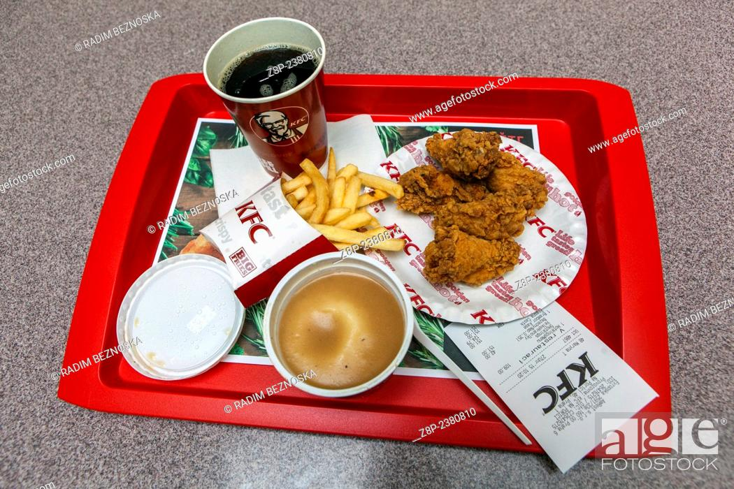 Kfc Menu Stock Photo Picture And Rights Managed Image Pic Z8p