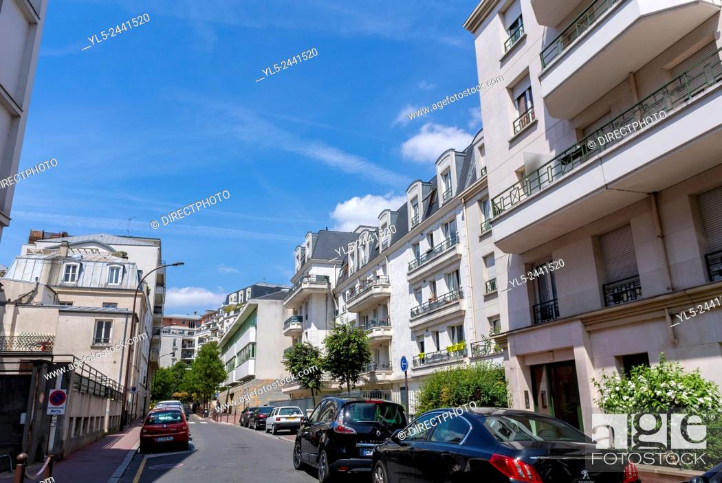 Stock Photo: Paris, France, Charenton-Le-Pont, Suburbs, French Real Estate, Residential Buildings.