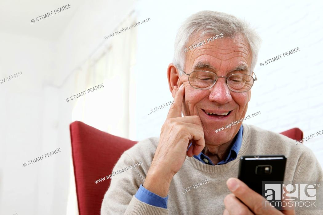 Stock Photo: Senior man.