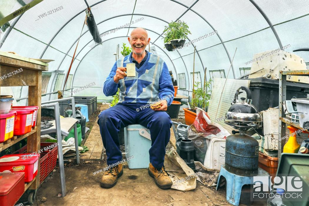 Imagen: George Kyle, Plot 71, Eglinton Growers Allotments, Kilwinning, Ayrshire, Scotland, UK.