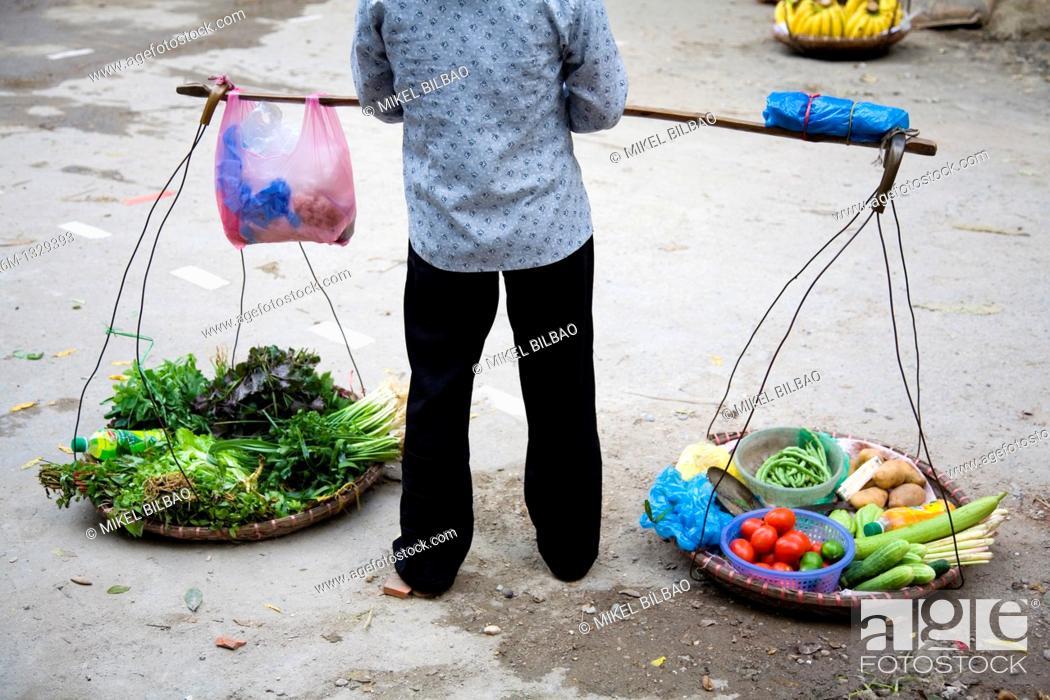 Stock Photo: Peddler  Hanoi, Vietnam.