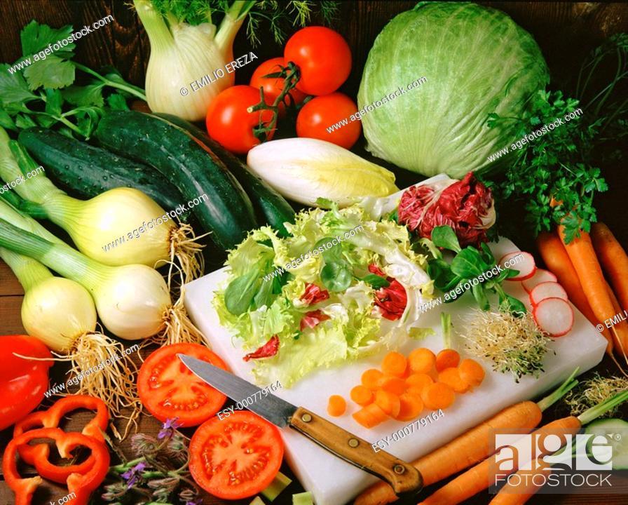 Stock Photo: Vegetables still life.