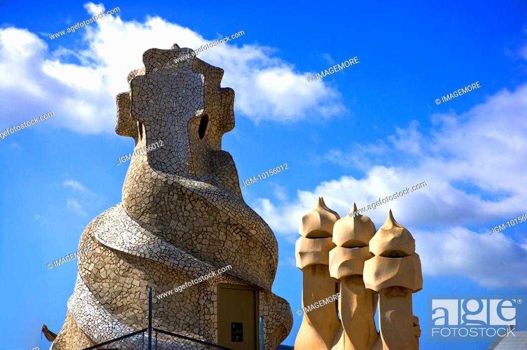 Stock Photo: Spain, Catalonia, Barcelona, Parc Guell.