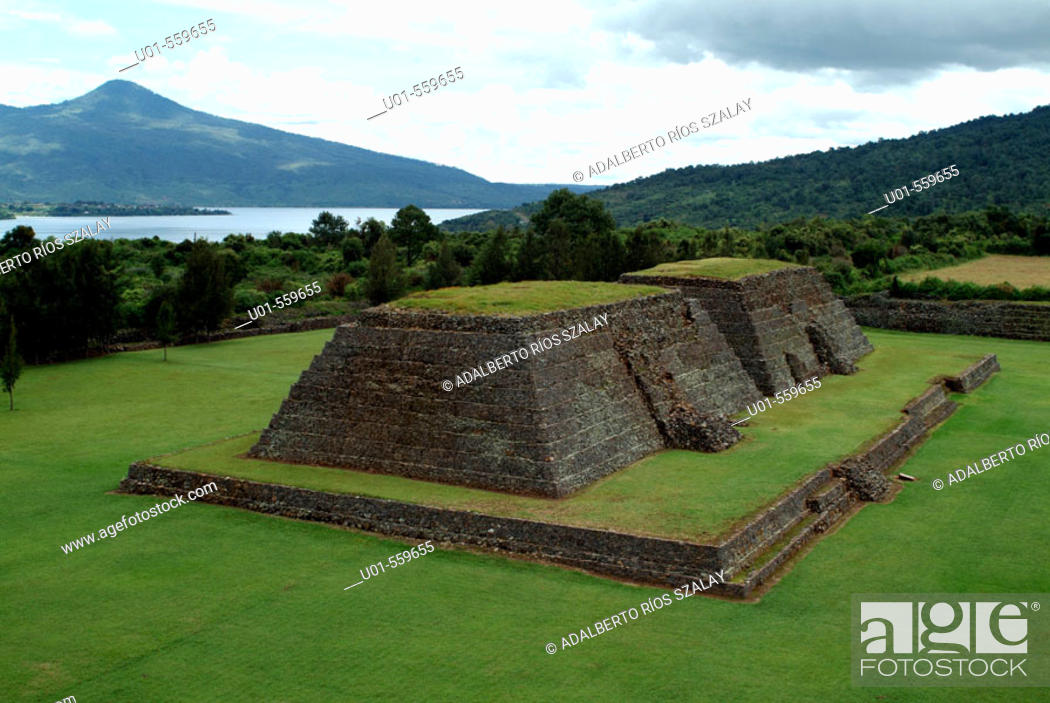 Stock Photo: Ihuatzio (Place of the Coyotes) archaeological site, Purepecha empire. Michoacan, Mexico.