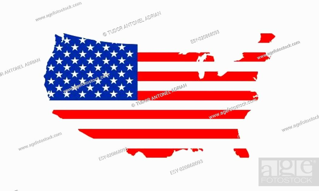 Imagen: usa flag map.
