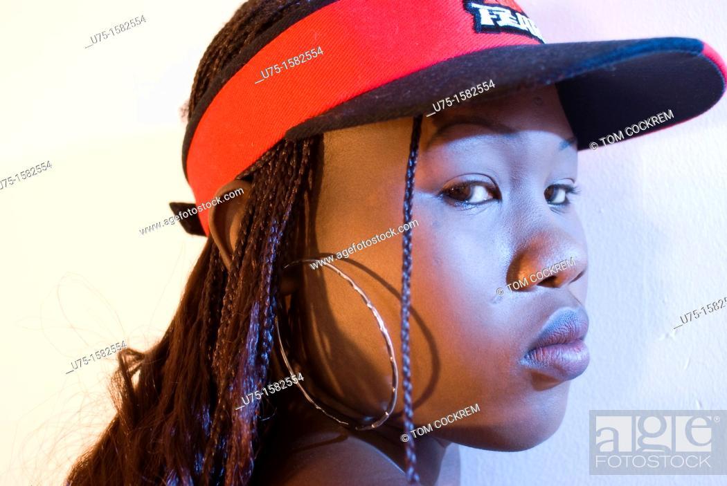 Stock Photo: Black African model in studio setting.