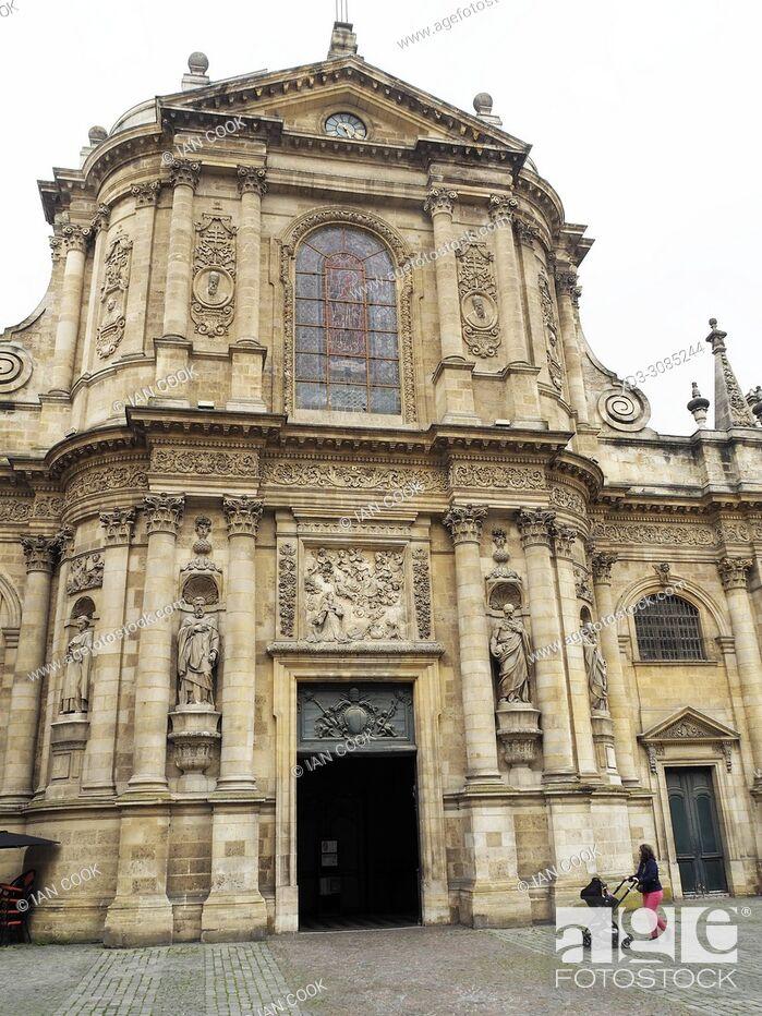 Stock Photo: Eglise Notre Dame, Place de la Chapelet, Bordeaux, Gironde Department, Aquitaine, France.