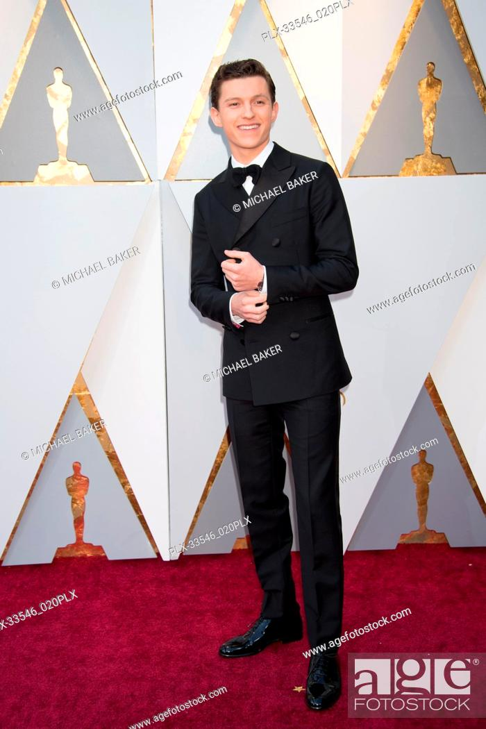 Tom Holland arrives on the red carpet of The 90th Oscars® at