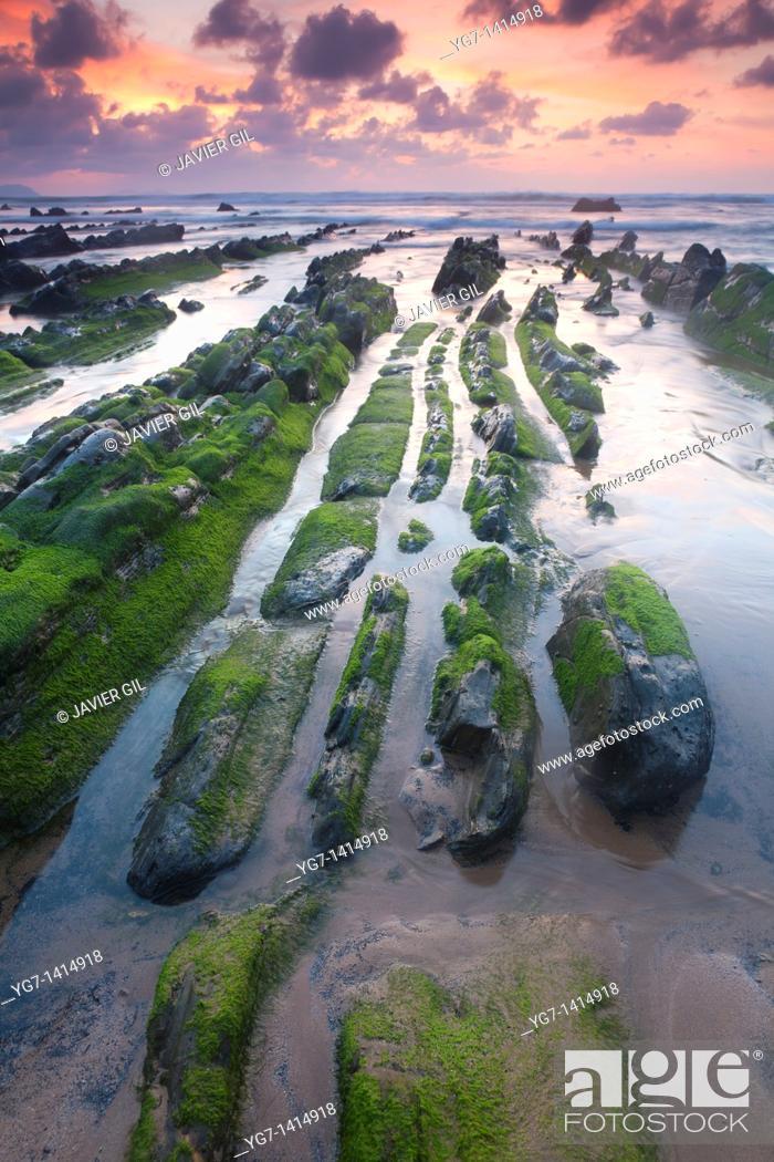 Stock Photo: Sea in Barrika, Bizkaia, Basque Country, Spain.