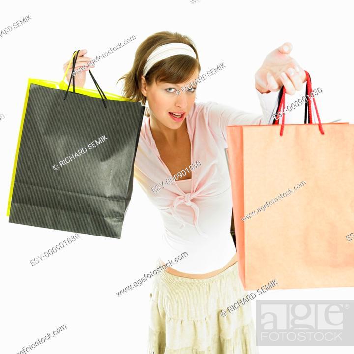 Stock Photo: shopping girl.