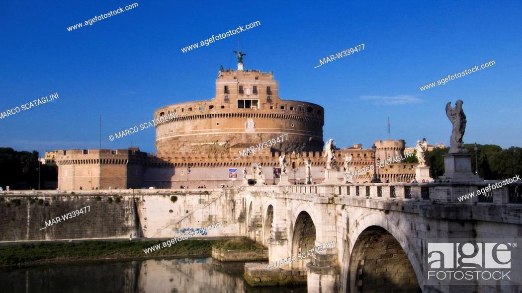 Stock Photo: italy, lazio, rome, castel sant'angelo.