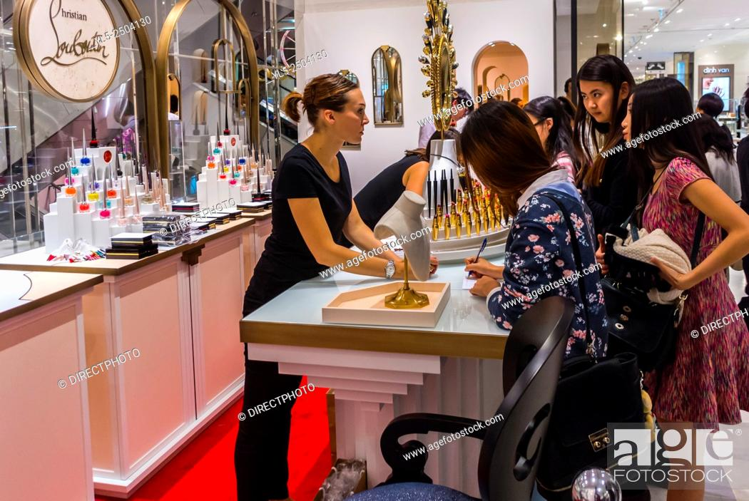 nouveau style c375a 709ff Paris, France, People Shopping in French Department Store ...