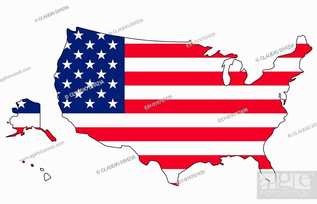 Imagen: US Flag map.