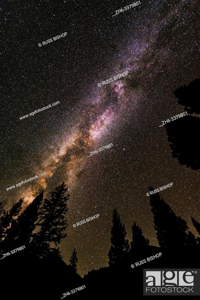 Stock Photo: The Milky Way over LIzard Head Pass, Uncompahgre National Forest, Colorado USA.